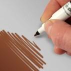 rd rotulador alimenticio de doble cara chocolate