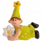 Figura roscón duende niño flor