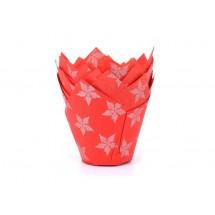 Cápsulas para muffins estrellas rojas