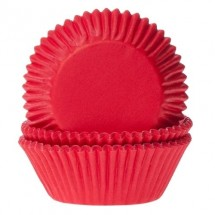 Cápsulas cupcakes color rojo