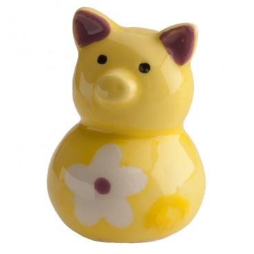 Figura roscón cerdito amarillo