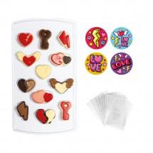 Molde para candy corazones