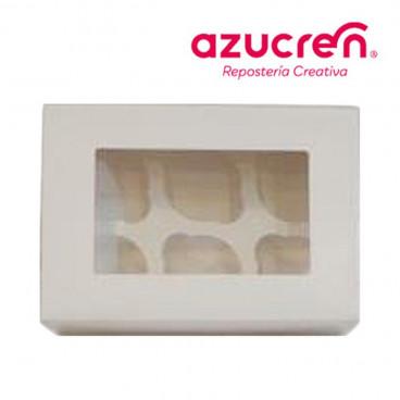 Caja 6 cupcakes blanca Azucren