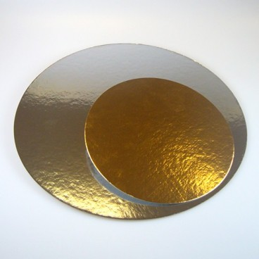Set de 3 bases oro/plata 15,2 cm.