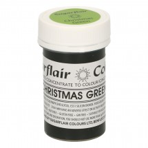 Sugarflair. Colorante en pasta Christmas Green