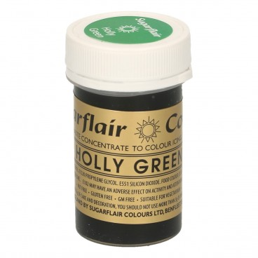 Sugarflair. Colorante en pasta Holly Green