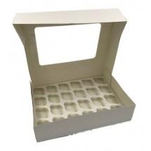 Caja 24 mini cupcakes blanca