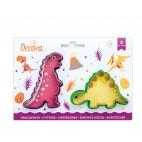 Kit 2 cortadores dinosaurios - TRex Stego